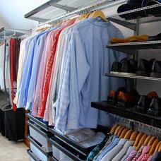 Contemporary Closet by Honey & Fitz