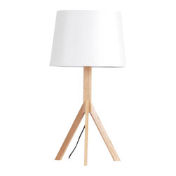 ParrotUncle - Tripod Wood Base Stylish Table Lamp - Modern light never shone so bright. Crafted of sustainable wood, tripod base and a linen crash shade, this exquisite table lamp is as functionally astonishing as it is aesthetically out of-this-world – a true original to light up your life.