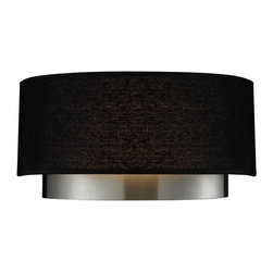 Z-Lite - Z-Lite 187-2S Jade 2 Light Wall Sconce with Black Fabric Shade - Features: