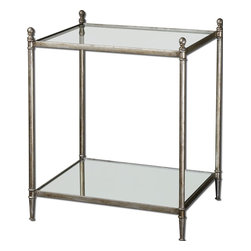 Uttermost - Uttermost 24282 Gannon Mirrored Glass End Table - Uttermost 24282 Gannon Mirrored Glass End Table