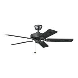 "Kichler Lighting - Kichler Lighting 339520SBK Sterling Manor Patio 52"" Indoor/Outdoor Transitional - Kichler Lighting 339520SBK Sterling Manor Patio 52"" Indoor/Outdoor Transitional Ceiling Fan"