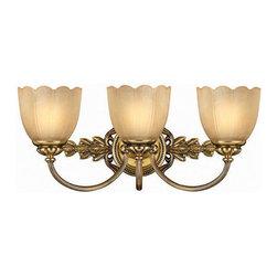 Hinkley Lighting - Hinkley Lighting 5393BB Isabella Burnished Brass 3 Light Vanity - Hinkley Lighting 5393BB Isabella Burnished Brass 3 Light Vanity