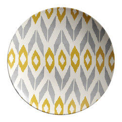 Marrakech Buffet Plates, Set of 4 - Add some Moroccan vibe to your cupboard.  This set of 4 plates can serve dessert, buffet or salad.  Use on top of our white sculptured dinner plates to create the perfect tablescape.