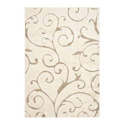 Safavieh - Shag Florida Shag 8'x10' Rectangle Cream - Beige Area Rug - The Florida Shag area rug Collection offers an affordable assortment of Shag stylings. Florida Shag features a blend of natural Cream - Beige color. Machine Made of Polypropylene the Florida Shag Collection is an intriguing compliment to any decor.