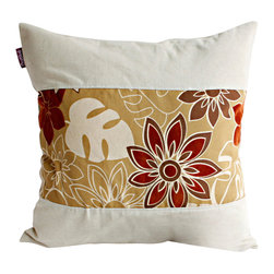 Blancho Bedding - [Nice day] Linen Stylish Patch Work Pillow Floor Cushion (19.7 by 19.7 inches) - Aesthetics and Functionality Combined. Hug and wrap your arms around this stylish decorative pillow measuring 19.7 by 19.7 inches, offering a sense of warmth and comfort to home buddies and outdoors people alike. Find a friend in its team of skilled and creative designers as they seek to use materials only of the highest quality. This art pillow by Onitiva features contemporary design, modern elegance and fine construction. The pillow is made to have invisible zippers, linen shells and fill-down alternative. The rich look and feel, extraordinary textures and vivid colors of this comfy pillow transforms an ordinary, dull room into an exciting and luxurious place for rest and recreation. Suitable for your living room, bedroom, office and patio. It will surely add a touch of life, variety and magic to any rooms in your home. The pillow has a hidden side zipper to remove the center fill for easy washing of the cover if needed.