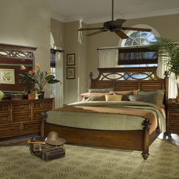 SOLID WOOD BEDROOMS - Daniela collection in Chocolate color. Chest, media cabinet and armoire available. It has a hidden tray in a triple dresser.