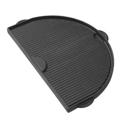 Primo - Primo Half Moon Cast Iron Griddle Multicolor - 360 - Shop for Accessories and Parts from Hayneedle.com! Put the griddle to the grill and expand your cooking options with the Primo Half Moon Cast Iron Griddle. This cast iron companion features a dual-sided design and is made to use right on your Primo grill. Its smooth side is perfect for cooking flat top style foods such as pancakes eggs and more. A grooved side gives you perfect grill marks and is ideal for steaks burgers veggies and other foods that may slip through grates of your grill. It s also pre-seasoned giving it a non-stick surface. Use it at home or when camping for a way to make the most of your outdoor cooking adventures.