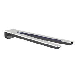 Gedy - Anthracite and Chrome 13 Inch Wall Mounted Double Swivel Towel Bar - Keep your master bath looking modern & contemporary with this designer-quality 13 inch towel rack from the Gedy Bijou collection. Easily mountable, this towel hanger is made in high-quality cromall and thermoplastic resins with transparent anthracite/chro