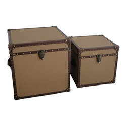 Screen Gems - Valencia Square Canvas Trunks - Fill these vintage-style trunks with linens or toys for a sophisticated storage solution. The sturdy design is ideal for keeping your daily life neat and tidy, while adding charm to your home's decor. Stack them, sit them side-by-side or use them in separate rooms for flexible use.