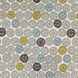 Galbraith & Paul Citrus Fabric in Silver - This fun fabric from Galbraith in Paul is a bit modern, a bit coastal, a bit botanical, and a lot stylish. It's contemporary and eclectic at the same time, and comes in several vibrant color combinations.