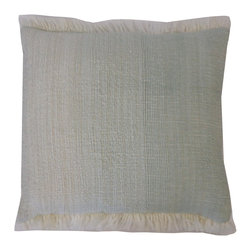 JITI - Nomad Celadon Pillow - No fuss, no muss. Sometimes you need a simple pillow. This one in celadon will make a cushy contrast to your couch (or bed) with a playful pattern.