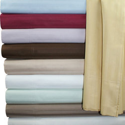 Bed In A Bag - HC 650TC Egyptian Cotton Stripe Pillowcase Set - Woven from 100% Egyptian cotton, these indulgently soft, 650 Thread Count pillowcases are exquisitely designed and expertly tailored to provide the ultimate nights sleep.  Each pillowcase set includes two pillowcases.  Stripe Colors Available are Burgundy, Beige, Chocolate, Gold, Ivory, Light Blue, Lavender, Mint, Taupe, White.  Available in Standard (Full) and King size.
