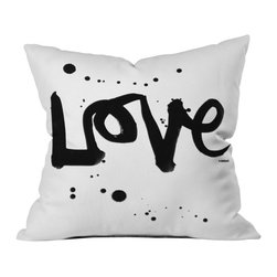Kal Barteski Love 1 Outdoor Throw Pillow - Do you hear that noise? it's your outdoor area begging for a facelift and what better way to turn up the chic than with our outdoor throw pillow collection? Made from water and mildew proof woven polyester, our indoor/outdoor throw pillow is the perfect way to add some vibrance and character to your boring outdoor furniture while giving the rain a run for its money.