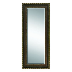 Benzara - Wood Mirror See It and Get It Decor Item - WOOD MIRROR is an excellent anytime low priced wall decor upgrade option that is high in modern age decor fashion.