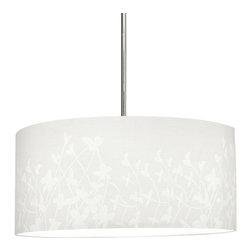 "Progress Lighting - P8768-01 Chloe 22 In. Fabric Shade Modular Pendant System Floral Fabric - Modular pendant system. Choose shade and 1-light stem (P5198) or 3-light stem (P5199) to make complete fixture. 22"" Floral Fabric Shade"