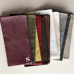 Cross-Dye Basic Napkin Set - These napkins from West Elm are a great affordable option. They come in such great colors. My money's on that plummy purple or the olive green.
