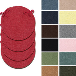 Colonial Mills - Colonial Mills Bombay Round Chair Pads (Set of 4) - These perfectly clean and simple chair pads will create a beautiful decor for your home. In these wool blend chair pads,yarns in warm and inviting colors create a simple accent and sense of warmth.