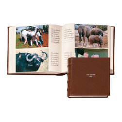 """Exposures - Shelbourne Medium Personalized Memo Album - Overview If you want the look of leather without the price, the Shelbourne medium personalized memo album is the choice for you. Classic raised spine detailing, cover personalization and matching spine patches are just some of the details of this faux leather photo album. Features Book bound pages Wrapped in faux leather Top stitched detail around the edges Raised spine details   Pages 50 book bound pages  Medium memo album holds 2 horizontal 4"""" x 6"""" photos per side, 4 per page, 200 in all  Ruled columns to capture the details of each photo    Personalization  Silver-stamped cover personalization is available Up to 3 lines, 20 characters per line All capital letters only Matching personalized spine patches are available for Medium albums only  Up to 2 lines, 7 characters per line All capital letters only   No returns on personalized items unless the item is damaged or defective Specifications  Medium Memo Album - 9 1/2"""" wide by 8 3/4"""" high   Shipping  Allow an additional 2 to 3 days for personalized items"""