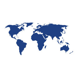 Dana Decals - World Map Wall Decal - Ideal for homes, kids rooms, and schools.