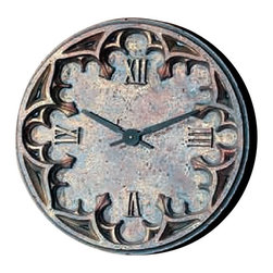 """Factory Direct Wall Decor - Gothic Wall Clock - The Gothic Clock has a old cathedral Baroque feel. It's measurements are 22""""W x 22""""H x 3"""" in Depth. This item weighs approximately 10 lbs, and requires one AA battery."""