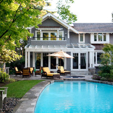 traditional pool by John Henshaw Architect Inc.