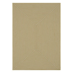 """Loloi - Loloi Indoor Outdoor IO-01 (Yellow) 7'10"""" Round Rug - Hand-braided in China of 100% polypropylene, the In/Out collection offers a fun and simplistic look. This easy-to-place collection works nicely in an interior space or outdoors, and is available in an array of both neutral and vibrant colors."""