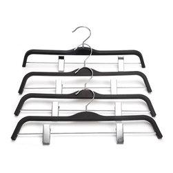 J.S. Hanger - J.S. Hanger®Non-Slip Soft Matte Pant Hangers with Rubber Effect Coating,10-pack - Feature: