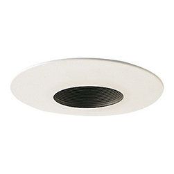 "Nora Lighting - Nora NT-641 6"" Stepped Baffle with White Metal Trim, Nt-641b - 6"" Stepped Baffle with White Metal Trim"