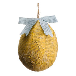Silk Plants Direct - Silk Plants Direct Easter Egg Ornament (Pack of 6) - Yellow - Pack of 6. Silk Plants Direct specializes in manufacturing, design and supply of the most life-like, premium quality artificial plants, trees, flowers, arrangements, topiaries and containers for home, office and commercial use. Our Easter Egg Ornament includes the following: