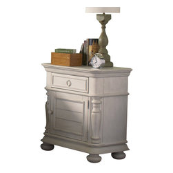 Riverside Furniture - Riverside Furniture Placid Cove Doored Nightstand in Honeysuckle White - Riverside Furniture - Nightstands - 16768 -Riverside's products are designed and constructed for use in the home and are generally not intended for rental, commercial, institutional or other applications not considered to be household usage.