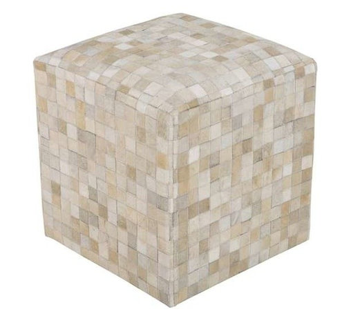 Surya - Woven Leather Poufs in Multiple Patterns by Surya - The natural and varied tones of leather is appreciated in this collection of four cube poofs. From soft and pale to distinctive color patterns makes the selection compatible for mixing with all styles. (SUR)