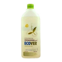 Ecover Liquid Dishwashing Soap - Lemon Aloe - Case Of 12 - 32 Oz - Ecover Dishwashing Liquid in Natural Lemon and Aloe is tough on grease but gentle on your hands. It is made with lemon extracts and the juice of Aloe Vera, and other plant-based ingredients to give you a clean citrus fragrance without the use of chemicals and other toxins. The formula is powerful, efficient and leaves no residue on dishes.