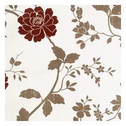 Blancho Bedding - Elegant Peony-1 - Self-Adhesive Wallpaper Home Decor(Roll) - Wallpaper can transform a room quickly and easily. You can wallpaper all walls, the ceiling or create a large over scaled piece of artwork by framing it. It would be perfect for nearly any room in the house: your living room, bedroom, bathroom, etc. The wallpaper are made of a high quality, waterproof, and durable vinyl and will stick to any smooth surface. It can be washed with gentle pressure and a soft damp cloth Strippable. You can add your own unique style in minutes! This wallpaper is a perfect gift for friend or family who enjoy decorating their homes.
