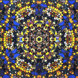 Cathedral Print, St. Paul by Damien Hirst - This silkscreen was printed on the occasion of Damien Hirst: Superstition shown at the Gagosian in 2007 at both the London and Los Angeles locations concurrently. For this exhibition, Hirst created paintings inspired by stained glass church windows. While the works celebrate the ornate design and symmetry of the religious iconography, they also question the role of religion in society, as suggested by the exhibition title.