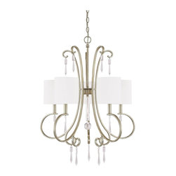 Capital Lighting - Capital Lighting 4465WG-565-CR Simone Single Tier Chandelier - Single Tier Chandelier in Winter Gold with Clear crystal from the Simone Collection by Capital Lighting.