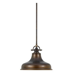 Quoizel - Emery Palladian Bronze Dome Pendant - This metal-shaded fixture is an elegant nod to the past. The classic Americana styling adds a nostalgic flair to your home. When hung over a kitchen island or dinette table it provides ample lighting for all your daily tasks. It includes a light diffuser and is available in two fabulous finishes.  - Comes with 2 6 and 2 12 down rods.  Quoizel - ER1814PN