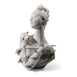 """Lladro Porcelain - Lladro My Fair Lady Re Deco Figurine - Plus One Year Accidental Breakage Replace - """"Hand Made In Valencia Spain - Sculpted By: Francisco Polope - Included with this sculpture is replacement insurance against accidental breakage. The replacement insurance is valid for one year from the date of purchase and covers 100% of the cost to replace this sculpture (shipping not included). However once the sculpture retires or is no longer being made, the breakage coverage ends as the piece can no longer be replaced. """""""