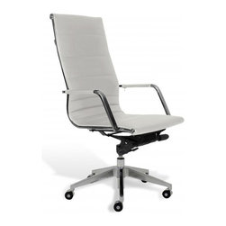 Jesper Office Furniture - Sofia High-Back Office Chair -White - Features: