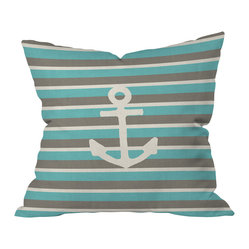 Bianca Green Anchor 1 Throw Pillow, 20x20x6