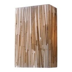 Modern Organics Bamboo Stem Two-Light Wall Sconce