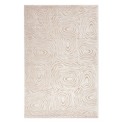 Jaipur Rugs - Modern Abstract Pattern Ivory /White Viscose/Chenille Rug - FB02, 5x7.6 - Every design tells a story with the Fables Collection. This broad range, crafted in machine-tufted polyester & ultra-soft chenille, brings any space to life with its fashion-forward color palettes. With options suited to many styles and aesthetics, Fables brings together a diverse collection of patterns ranging from sophisticated transitional to boldly scaled contemporary.