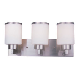 Z-Lite - Z-Lite 312-3V-BN Cosmopolitan 3 Light Bathroom Vanity Light in Brushed Nickel - This 3 light Vanity from the Cosmopolitan collection by Z-Lite will enhance your home with a perfect mix of form and function. The features include a Brushed Nickel finish applied by experts. This item qualifies for free shipping!