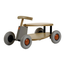 """Sirch - Sirch - Flix Push Car - Flix features steam-curved birch plywood and """"whisper-quiet"""" wheels. This ride-on kids vehicle can be used both inside & out as it smoothly navigates most terrains. Perfect for kids age 18 months+ as the foot platform is 5"""" beneath the seat. The wheels are made from non-marking rubber and the soft ash is easily touchable."""