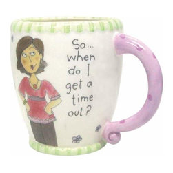 WL - 4.25 Inch Multicolor 'Time Out...' Women Design 12 Oz Drinking Mug - This gorgeous 4.25 Inch Multicolor 'Time Out...' Women Design 12 oz Drinking Mug has the finest details and highest quality you will find anywhere! 4.25 Inch Multicolor 'Time Out...' Women Design 12 oz Drinking Mug is truly remarkable.