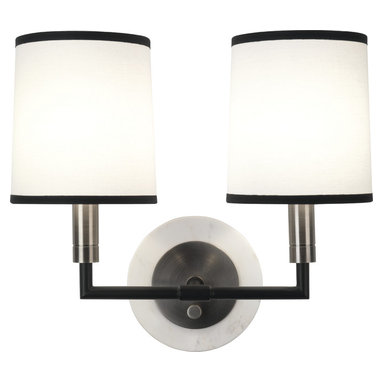 Robert Abbey - Axis Double Wall Sconce, Blackened Antique Nickel - -2 - 60W Max.