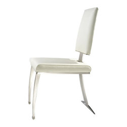 "Bellini Modern Living - Tania Side Chair (Set of 2) - Bellini Modern Living is renowned for offering high quality and innovative furniture; passionate for providing unparalleled quality furnishings that enable individuals to express their personal style in fresh and exciting ways. Whether you''re looking for dining, living or entertaining furniture your home will benefit from the exceptional collections Bellini has to offer. Features: -Side chair.-Contemporary style.-Cushioned with CFS foam for outstanding comfort and superior durability.-Brushed metal frame and base construction.-Tania collection.-Collection: Tania.-Distressed: No.-Seat Upholstery Material: Fabric.-Removable Seat Cushions: No.-Seat Cushion Fill Material: CFS Foam.-Removable Seat Cushion Cover: No.-Tufted Seat Upholstery: No.-Welt on Seat Cushions: No.-Powder Coated Finish: No.-Gloss Finish: No.-Frame Material: Stainless steel.-Number of Items Included: 2 Chairs.-Non-Toxic: No.-Scratch Resistant : No.-Arms Included: No.-Upholstered Back: Yes -Back Upholstery Material: Fabric.-Removable Back Cushions: No.-Back Cushion Fill Material: CFS Foam.-Removable Back Cushion Cover: No.-Tufted Back Upholstery: No.-Welt on Back Cushions: No..-Nailhead Trim: No.-Swivel: No.-Foldable: No.-Stackable: No.-Number of Legs: 3.-Leg Material: Stainless steel.-Casters: No.-Protective Floor Glides: No.-Adjustable Height: No.-Saddle Seat: No.-Outdoor Use: No.-Swatch Available: No.-Commercial Use: No.Dimensions: -Overall Product Weight: 19 lbs.-Overall Height - Top to Bottom: 36"".-Overall Width - Side to Side: 22"".-Overall Depth - Front to Back: 18"".-Seat Height: 18"".-Seat Width - Side to Side: 17"".-Seat Depth - Front to Back: 18"".Assembly: -Assembly Required: No.-Additional Parts Required: No.Warranty: -Manufacturer provides one year warranty.-Product Warranty: 1 Year."