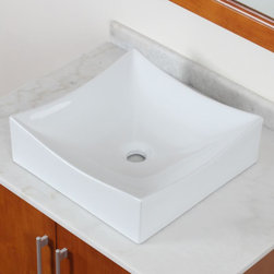CAE - ELITE Model 9909 High-Temperature Grade A Ceramic Bathroom Sink - Brand new technology brings you the latest in elegant,modern design style. Decorate your bathroom in  elegance with products from ELITE,the provider of the largest selections of grade A ceramic vessel sinks.