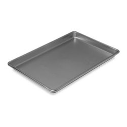 Chicago Metallic - Chicago Metallic Jelly Roll Pan in 14 3/4-Inch x 9 3/4-Inch - Chicago Metallic Jelly Roll Pan features an easy release, non-stick coating. Heavy duty construction with wire rod rim to prevent warping.