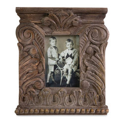 Old World Carved Wood Photo Frame - Small - *Inspired by Greek Neoclassical architecture, the small Hamlin carved wood frame is an excellent accent to any of your favorite photos and looks great with any decor.
