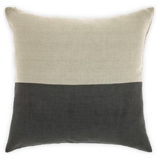 Dipped Cushion in Charcoal 50cm